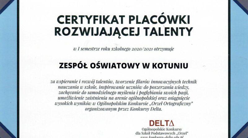 """Ogólnopolski konkurs ortograficzny """"Orzeł ortograficzny"""""""